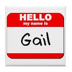 Hello my name is Gail Tile Coaster