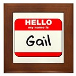 Hello my name is Gail Framed Tile