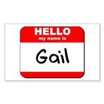 Hello my name is Gail Rectangle Sticker