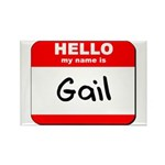 Hello my name is Gail Rectangle Magnet