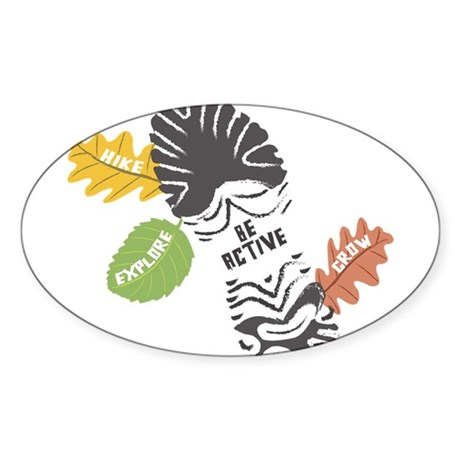 Be Active Oval Sticker