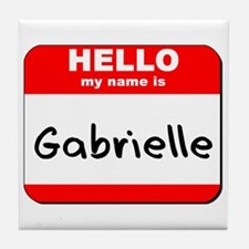 Hello my name is Gabrielle Tile Coaster