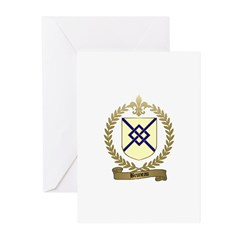BRUNEAU Family Crest Greeting Cards (Pk of 10)
