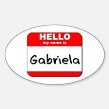 Hello my name is Gabriela Oval Decal