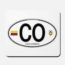 Colombia Euro Oval Mousepad