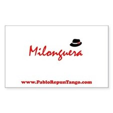 Milonguera Rectangle Decal