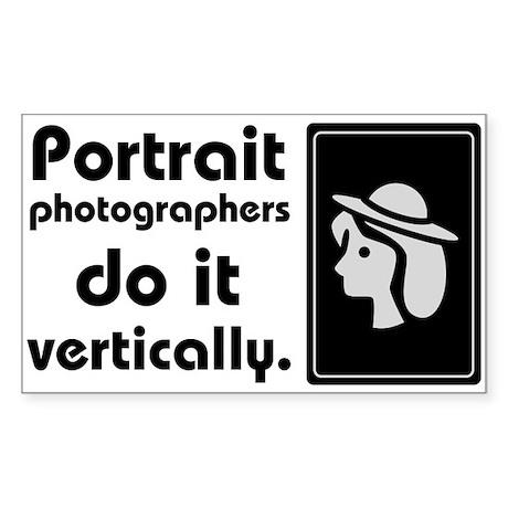 Portrait photographers do it Rectangle Sticker