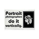 Portrait photographers do it Rectangle Magnet (10