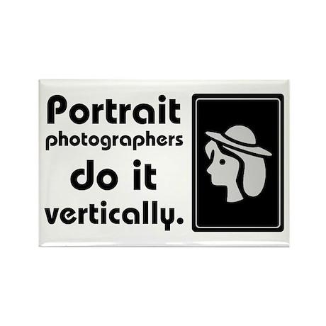 Portrait photographers do it Rectangle Magnet (10