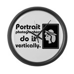 Portrait photographers do it Large Wall Clock