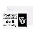 Portrait photographers do it Greeting Card