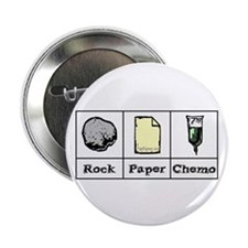 """Rock Paper Chemo 2.25"""" Button (10 pack)"""