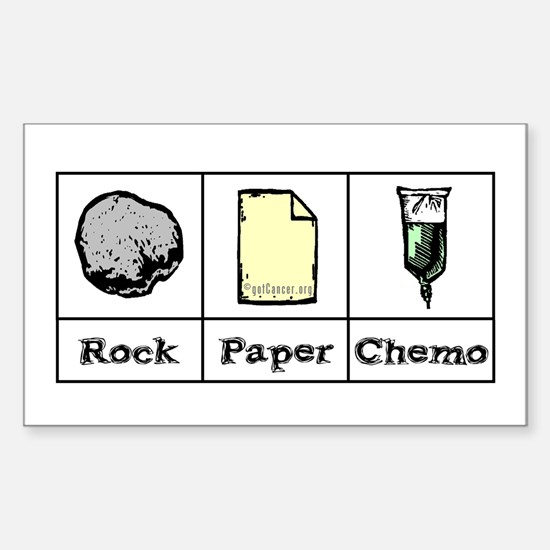 Rock Paper Chemo Rectangle Decal
