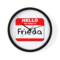 Hello my name is Frieda Wall Clock
