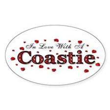 In Love With A Coastie Oval Decal