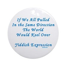 Be Different Yiddish Saying Ornament (Round)
