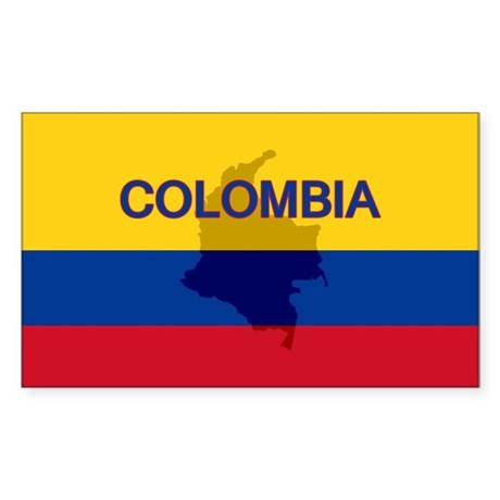 Colombian Flag Extra Rectangle Sticker