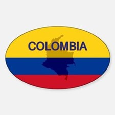 Colombian Flag Extra Oval Decal