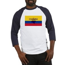 Colombian Flag Extra Baseball Jersey