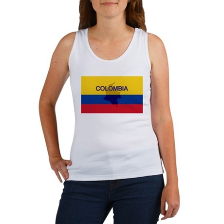 Colombian Flag Extra Women's Tank Top