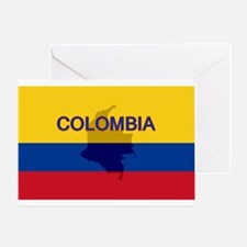 Colombian Flag Extra Greeting Card