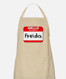 Hello my name is Freida BBQ Apron