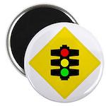 "Traffic Light Sign - 2.25"" Magnet (100 pack)"