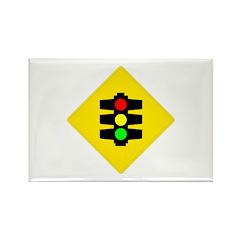 Traffic Light Sign - Rectangle Magnet