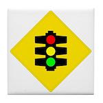 Traffic Light Sign - Tile Coaster