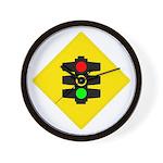 Traffic Light Sign - Wall Clock