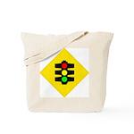 Traffic Light Sign - Tote Bag