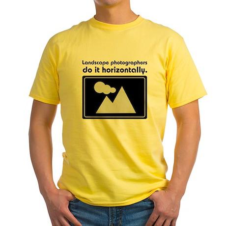 Landscape photographers do it Yellow T-Shirt