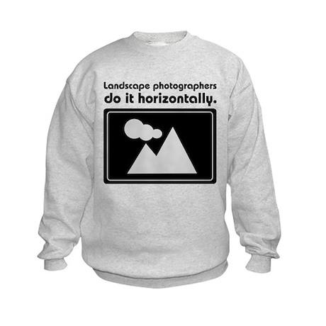 Landscape photographers do it Kids Sweatshirt