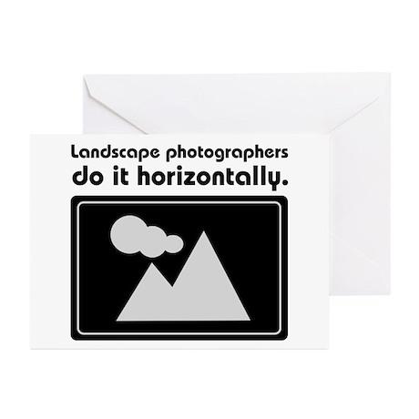 Landscape photographers do it Greeting Cards (Pk o