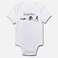 I see crazy people Infant Bodysuit
