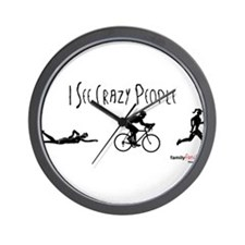 I see crazy people Wall Clock