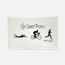 I see crazy people Rectangle Magnet (10 pack)
