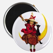 Witch on Moon Magnet
