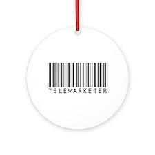 Telemarketer Barcode Ornament (Round)