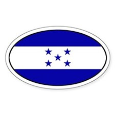 Oval Honduras Flag Oval Decal