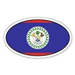 Oval Belize Flag Oval Sticker