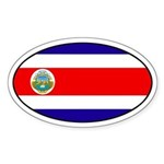 Oval Costa Rica Flag Oval Sticker