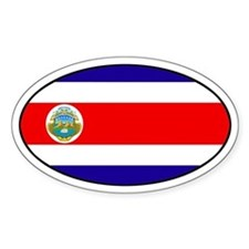 Oval Costa Rica Flag Oval Decal