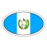 Oval Guatemala Flag Oval Sticker