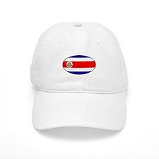 Oval Costa Rica Flag Baseball Cap