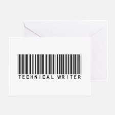 Technical Writer Barcode Greeting Card