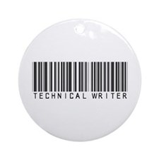 Technical Writer Barcode Ornament (Round)