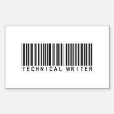 Technical Writer Barcode Rectangle Decal