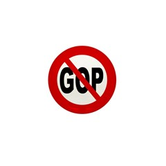 Slash through GOP Mini Button (100 pack)