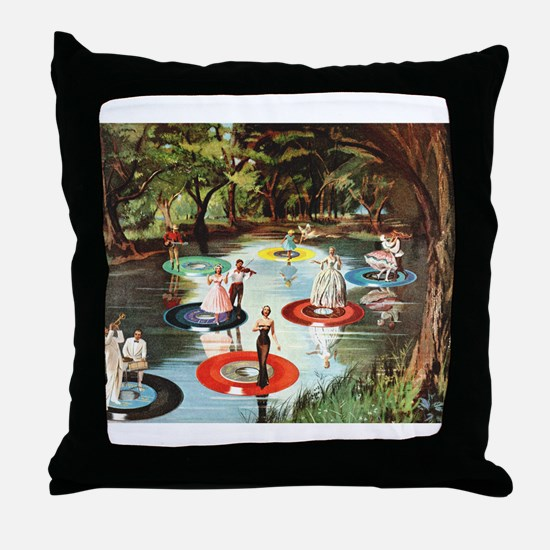 Phonograph/Record Player Throw Pillow